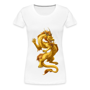 Fightwithstyle Berlin Lady Chinese Dragon Gold 2016 - Frauen Premium T-Shirt