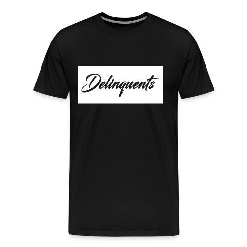 Delinquents T-Shirt White Logo - Men's Premium T-Shirt