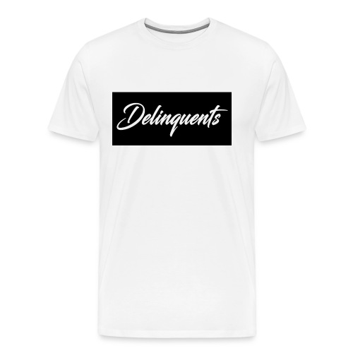 Delinquents T-Shirt Black Logo - Men's Premium T-Shirt
