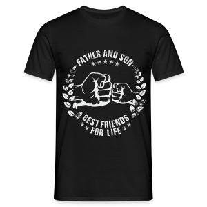 Father and Son best friends for life grey T-Shirts - Männer T-Shirt