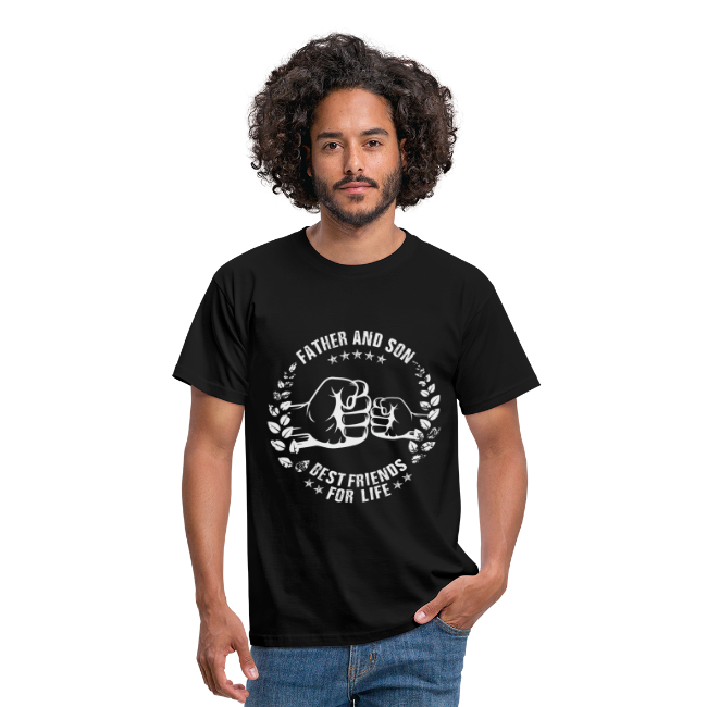 Father and Son best friends for life grey T-Shirts