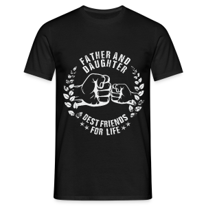 Father and Daughter best friends for life grey T-Shirts - Männer T-Shirt