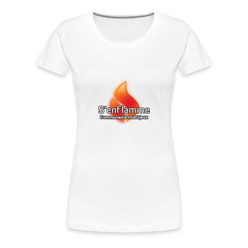 T-shirt blanc femme - T-shirt Premium Femme
