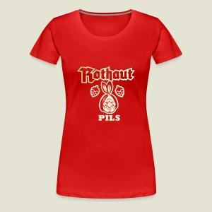 Rothaut Pils, distressed - Frauen Premium T-Shirt