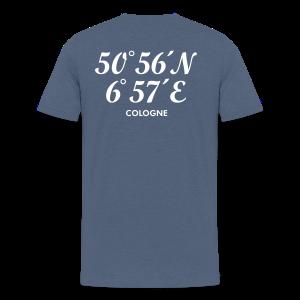 Köln Koordinaten Cologne S-5XL T-Shirt - Männer Premium T-Shirt