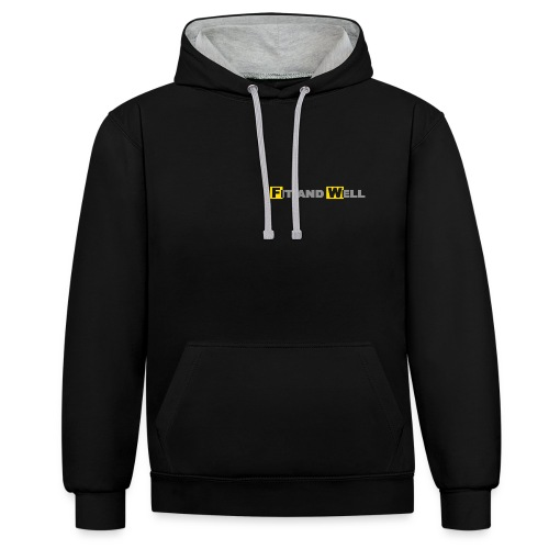 FaW - simple - hoodie/u - Kontrast-Hoodie