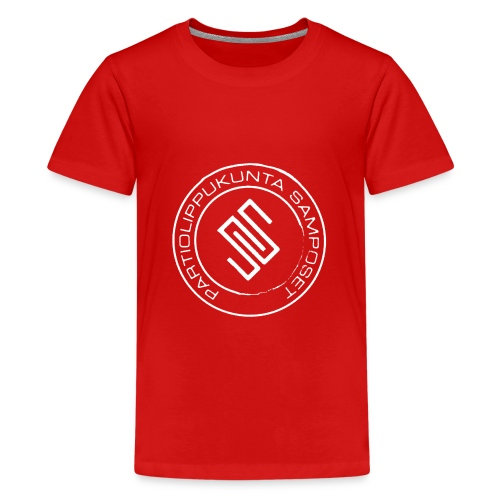 Lasten punainen t-paita (isot koot) - Teinien premium t-paita