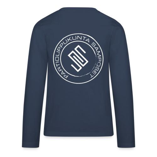 Lasten (isot koot) sininen, pitkähihainen paita - Teinien premium pitkähihainen t-paita