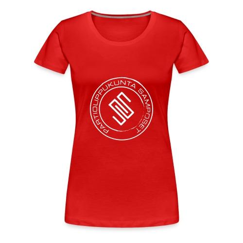 Naisten punainen t-paita - Naisten premium t-paita
