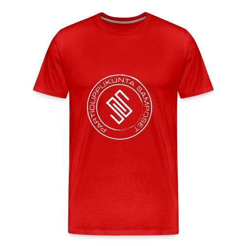 Miesten punainen t-paita - Miesten premium t-paita