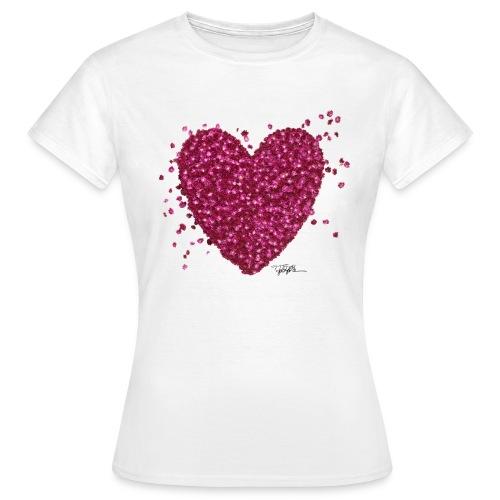 HEART OF FLOWERS Women's T-Shirt by Felix Holzer® - Women's T-Shirt