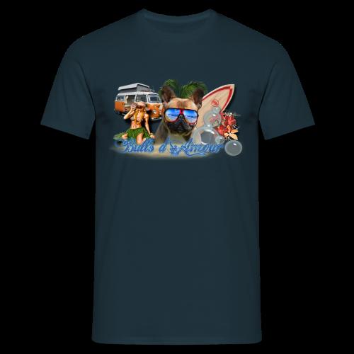 Bouledogue surf - T-shirt Homme
