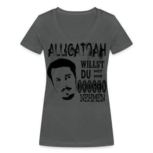 Alligatoah- WIllst du - Frauen Bio-T-Shirt mit V-Ausschnitt von Stanley & Stella
