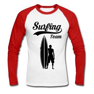 Surfing Team - Men's Long Sleeve Baseball T-Shirt