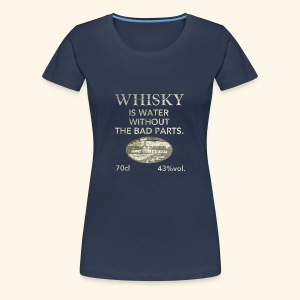 Whisky is water, shabby chic - Frauen Premium T-Shirt