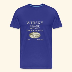 Whisky is water, shabby chic - Männer Premium T-Shirt