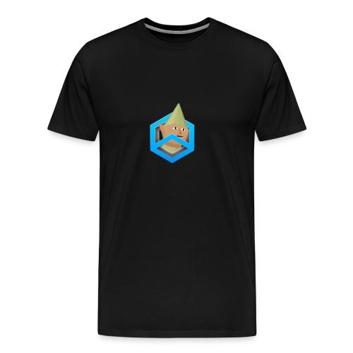 black w/ featured logo - Men's Premium T-Shirt