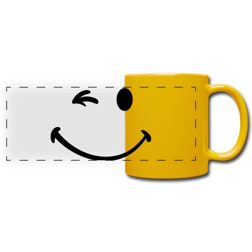mug smiley - Mug panoramique uni