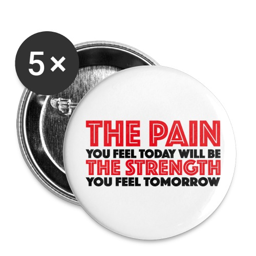 The Pain & The Strength Buttons - Buttons mittel 32 mm (5er Pack)