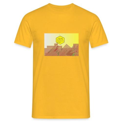 Love, Not Hate Sun Yellow T- Shirt - Men's T-Shirt