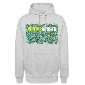 Emerald Winter Run Mosaic Hoodie  - Unisex Hoodie