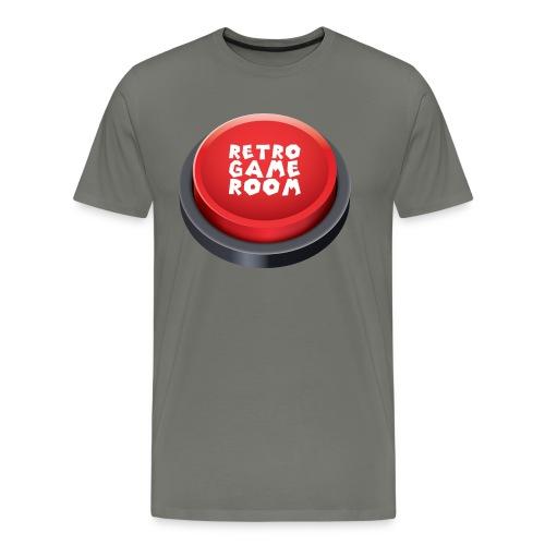 Arcade Button T-Shirt - Red/Green - Men's Premium T-Shirt