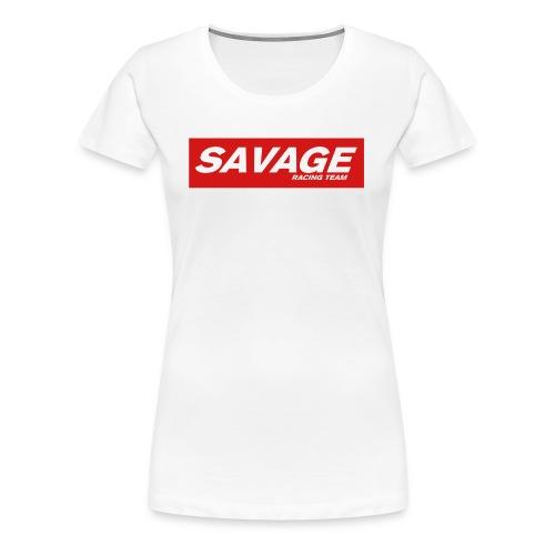 SavageRacingTeam T-Shirt Red (W) - Women's Premium T-Shirt