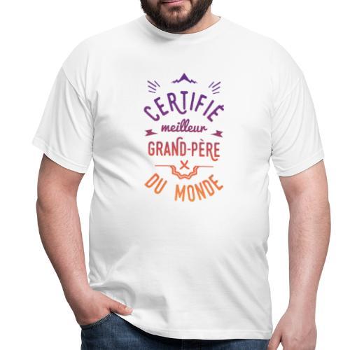 meilleur grand-père couleur Tee shirts - T-shirt Homme