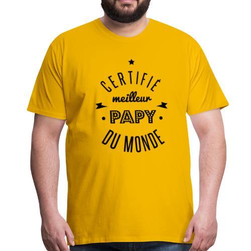 certifié meilleur papy Tee shirts - T-shirt Premium Homme