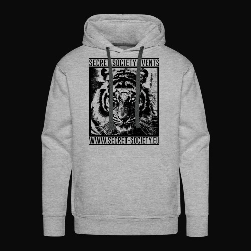 Secret Society Tiger Hoodie (Black Motive) (Male) - Männer Premium Hoodie