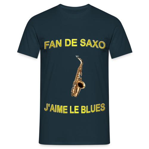 Tee-Shirt pour les fans de blues, et de saxo. - T-shirt Homme