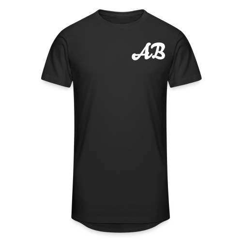 AB Men's Long Body Urban Tee Black - Men's Long Body Urban Tee