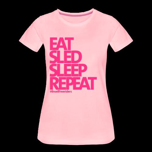 ESSR (rosa/neonrosa) - Premium-T-shirt dam