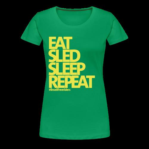 ESSR (grön/gul) - Premium-T-shirt dam