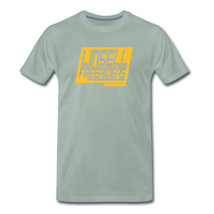 Retroracing (blågrå/orange) - Premium-T-shirt herr