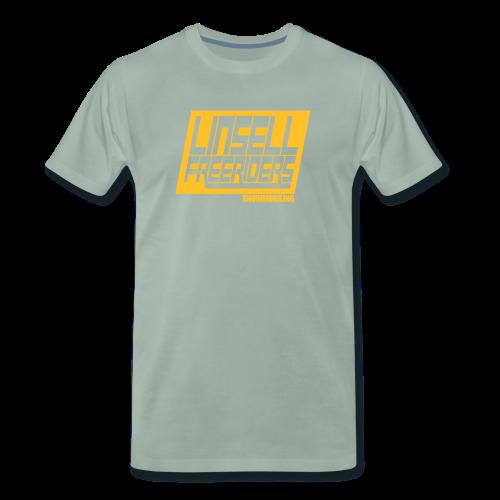 Retroracing (blågrå/orange) - Premium-T-shirt herr