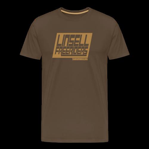 Retroracing (brun/beige) - Premium-T-shirt herr