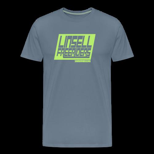 Retroracing (blågrå/ljusgrön) - Premium-T-shirt herr