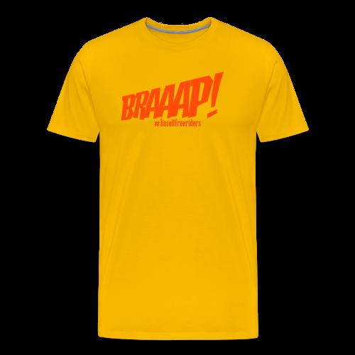 Braaap! (gul/neonorange) - Premium-T-shirt herr