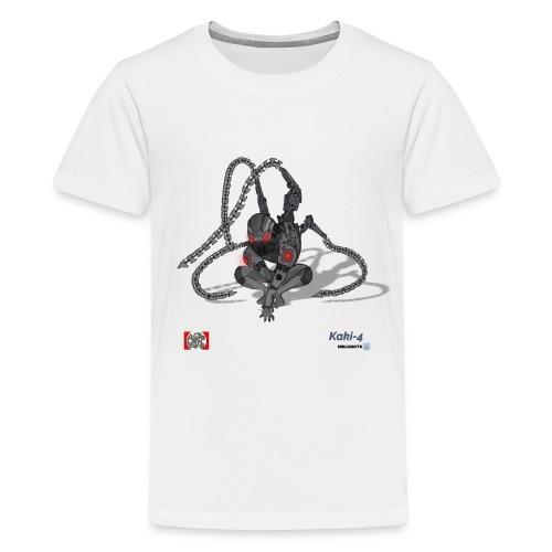 Kaki-4 (10-12 år) - Teenager premium T-shirt