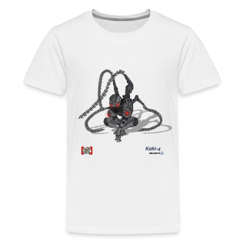Kaki-4 (10-12 år) - Teenager premium T-shirt