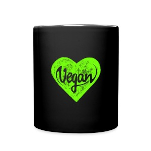 Vegan - a heart for animals, protection, nature,   Mugs & Drinkware - Tasse einfarbig