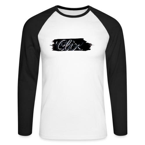 Clix Genser - Langermet baseball-skjorte for menn