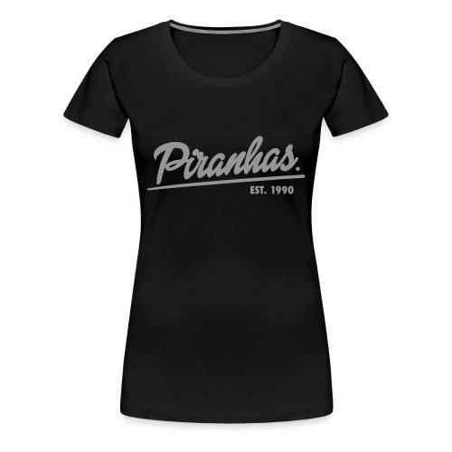 Frauen-T-Shirt Piranhas schwarz - Frauen Premium T-Shirt