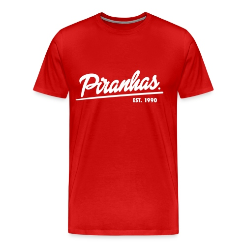 Männer-T-Shirt Piranhas rot - Männer Premium T-Shirt