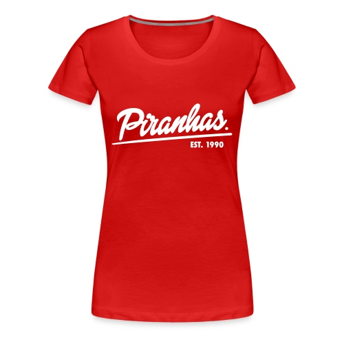Frauen-T-Shirt Piranhas rot - Frauen Premium T-Shirt