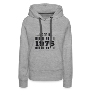 Tshirt made in 1976 - Sweat-shirt à capuche Premium pour femmes