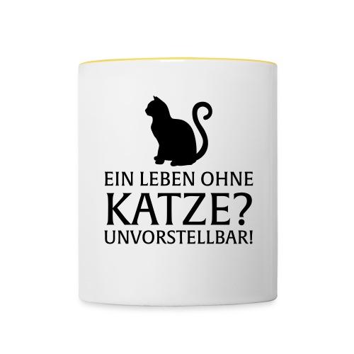 Ein Leben ohne Katze - Unvorstellbar - Tasse zweifarbig
