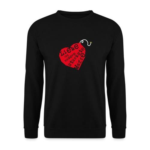 Liebe ist unsere stärkste Waffe: Herz - mit Rückendruck (rot) - Männer Pullover