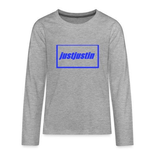 official justjustin teens - Teenagers' Premium Longsleeve Shirt